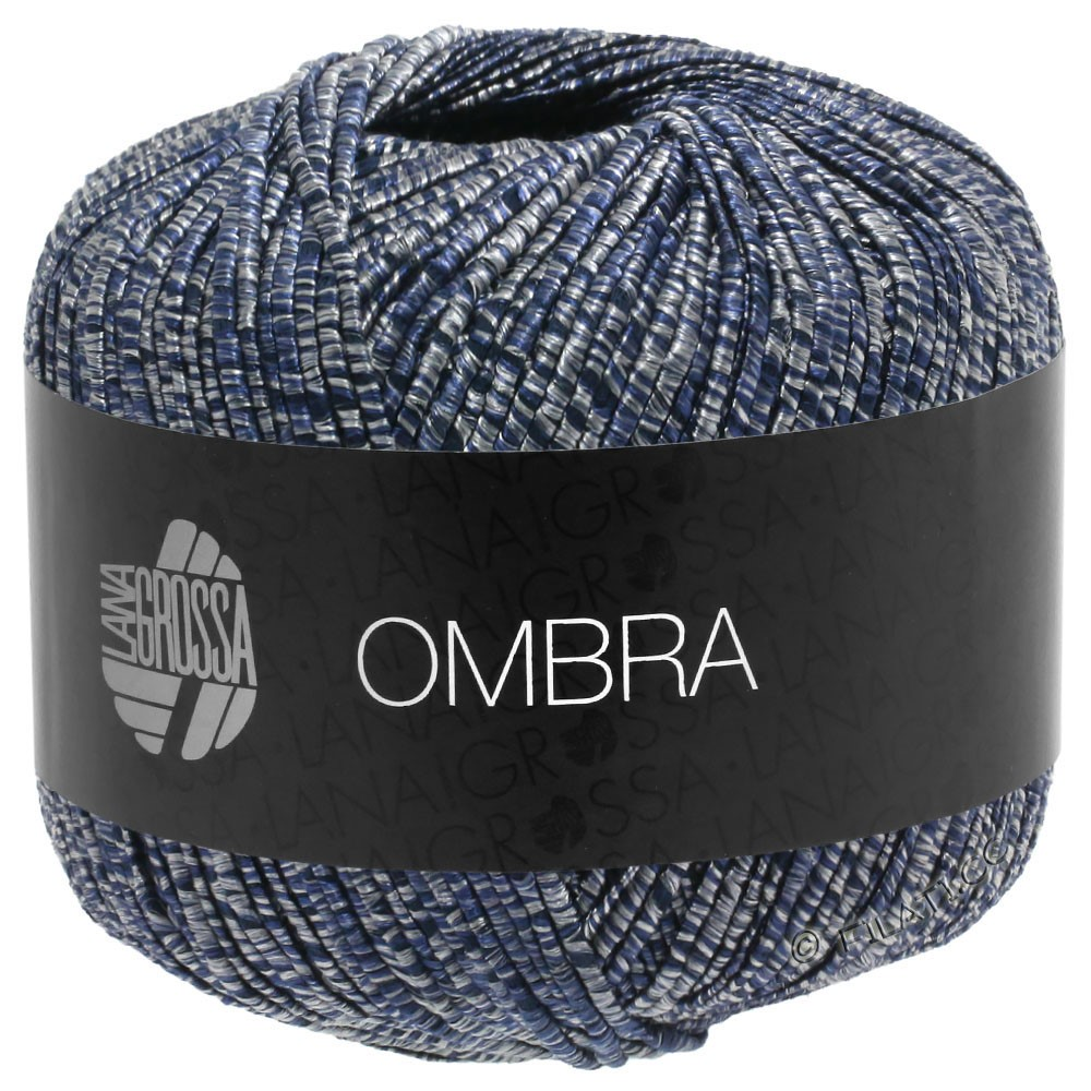 Lana Grossa OMBRA   10-серый/тёмно-синий