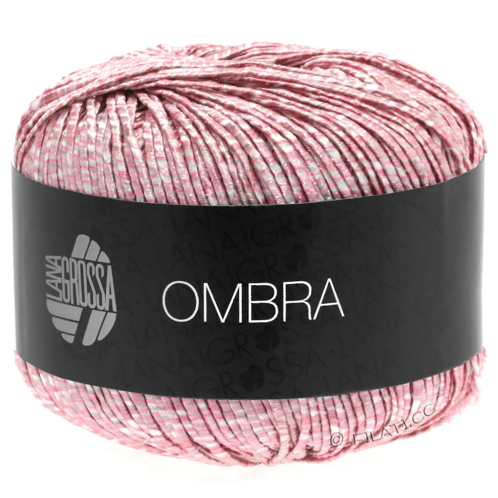 Lana Grossa OMBRA   15-розовый/белый