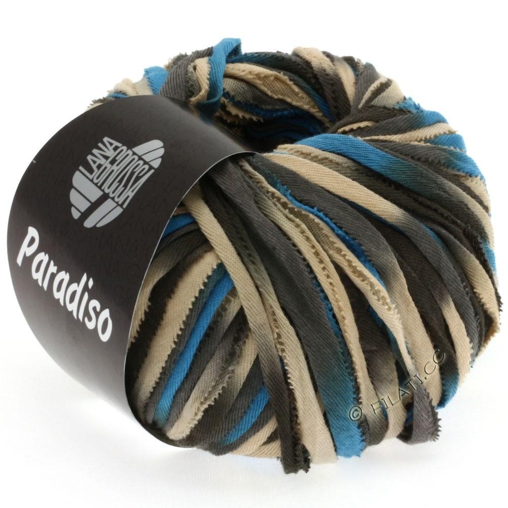 Lana Grossa PARADISO Uni/Print | 104-бежевый/коричневый/серо- бежевый/синий
