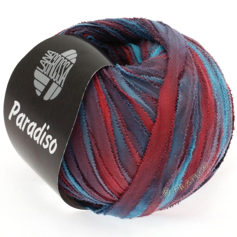 Lana Grossa PARADISO Uni/Print | 301-бирюзовый/петроль/красно-коричневый/слива/кирпично-красный