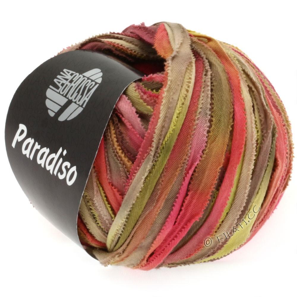 Lana Grossa PARADISO Uni/Print | 303-кирпично-красный/горчичный/бежевый/серо-коричневый/хаки