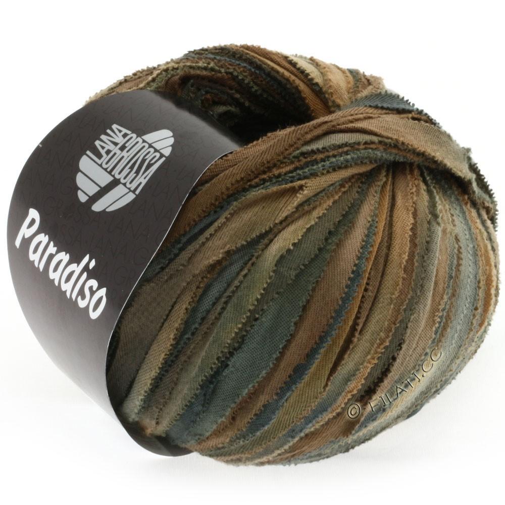 Lana Grossa PARADISO Uni/Print | 304-коричневый/тёмно-коричневый/антрацитовый