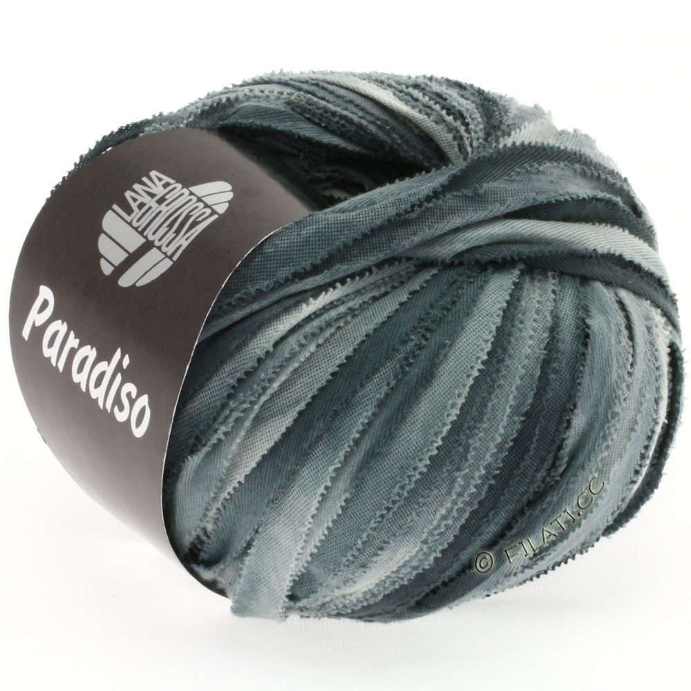 Lana Grossa PARADISO Uni/Print | 305-светло-серый/зеленый серый/антрацитовый