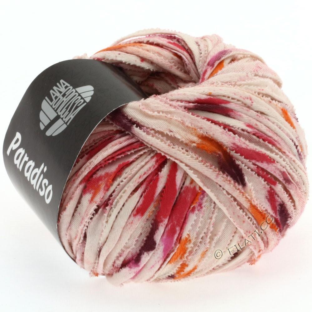 Lana Grossa PARADISO Uni/Print | 503-натуральный/оранжевый/пинк/ежевика