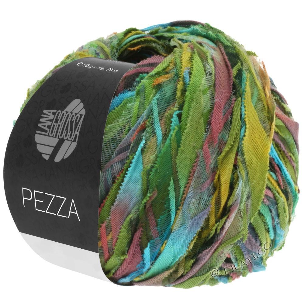 Lana Grossa PEZZA | 05-зелёный/бирюзовый/терракотовый/охра/оливковый