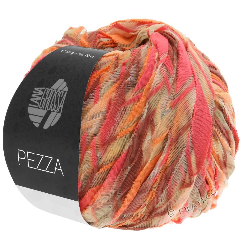 Lana Grossa PEZZA | 07-лососевый/оранжевый/персик/цвет корицы