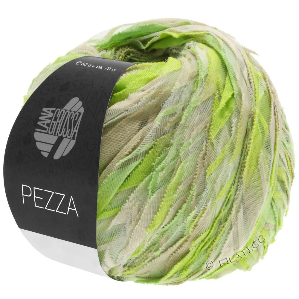 Lana Grossa PEZZA | 09-мягко-зеленый/жёлто-зеленый/зелёное яблоко/серо- бежевый