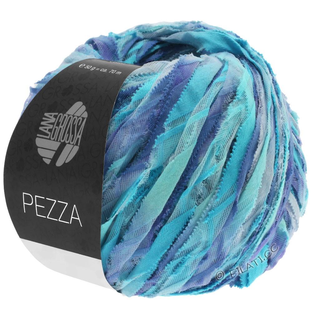Lana Grossa PEZZA | 10-мята/бирюзовый/сине-фиолетовый/пурпурно-синий