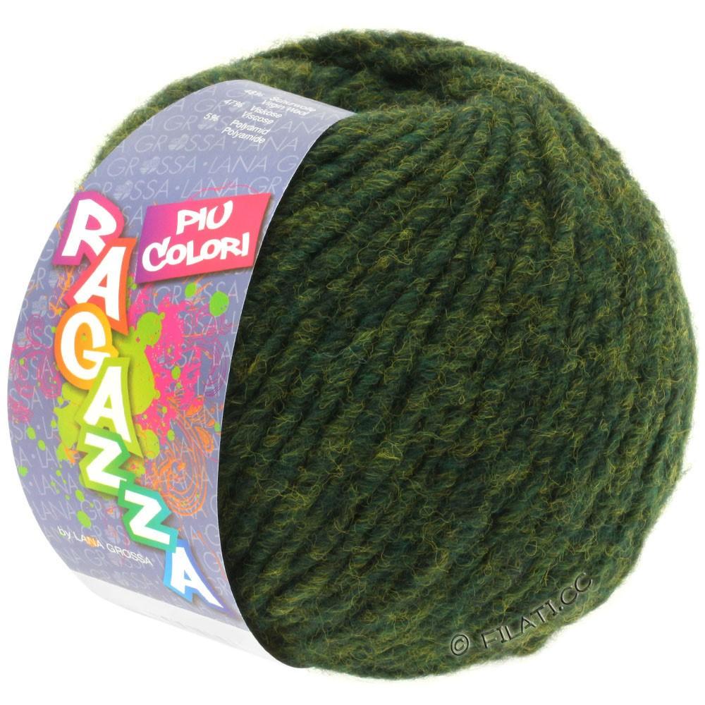 Lana Grossa PIU COLORI (Ragazza) | 02-тёмно-зелёный меланжевый