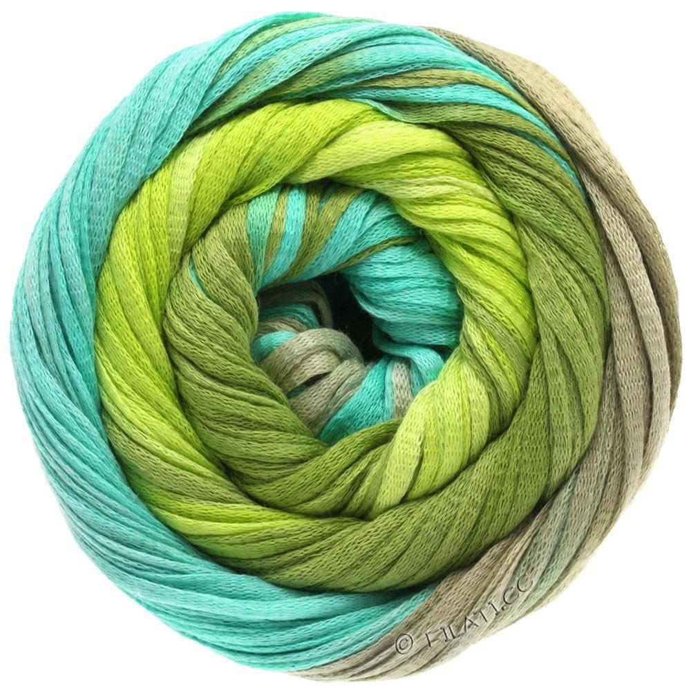 Lana Grossa PRIMAVERA | 102-зеленый/светло-зелёный/бирюзовый/платинно-серый