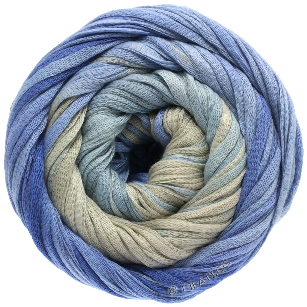 Lana Grossa PRIMAVERA | 103-серо-синий/синяя фиалка/серый камень