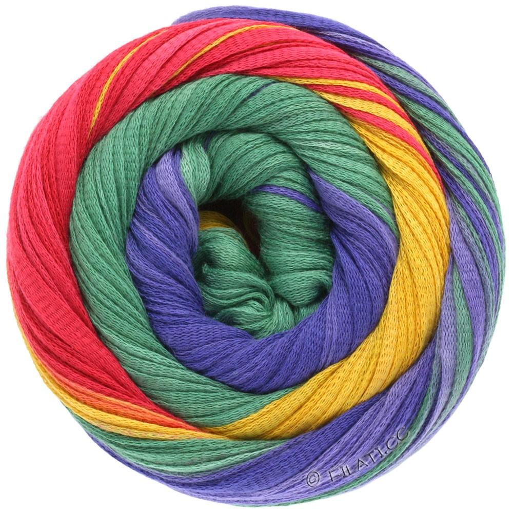Lana Grossa PRIMAVERA | 106-клубничный/кирпично-красный/красная фиалка/сине-фиолетовый/жёлтый/зелёный