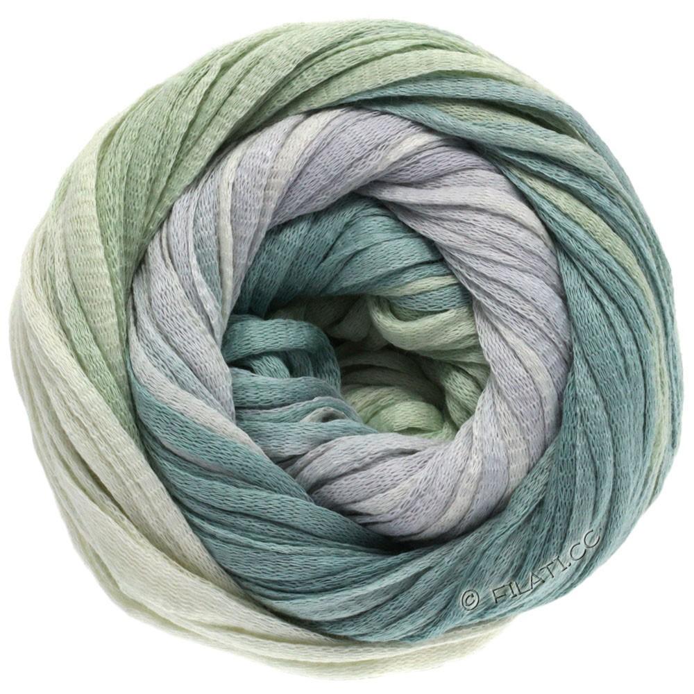 Lana Grossa PRIMAVERA | 109-натуральный/серебристо-серый/серо-зеленый/зеленый пастель