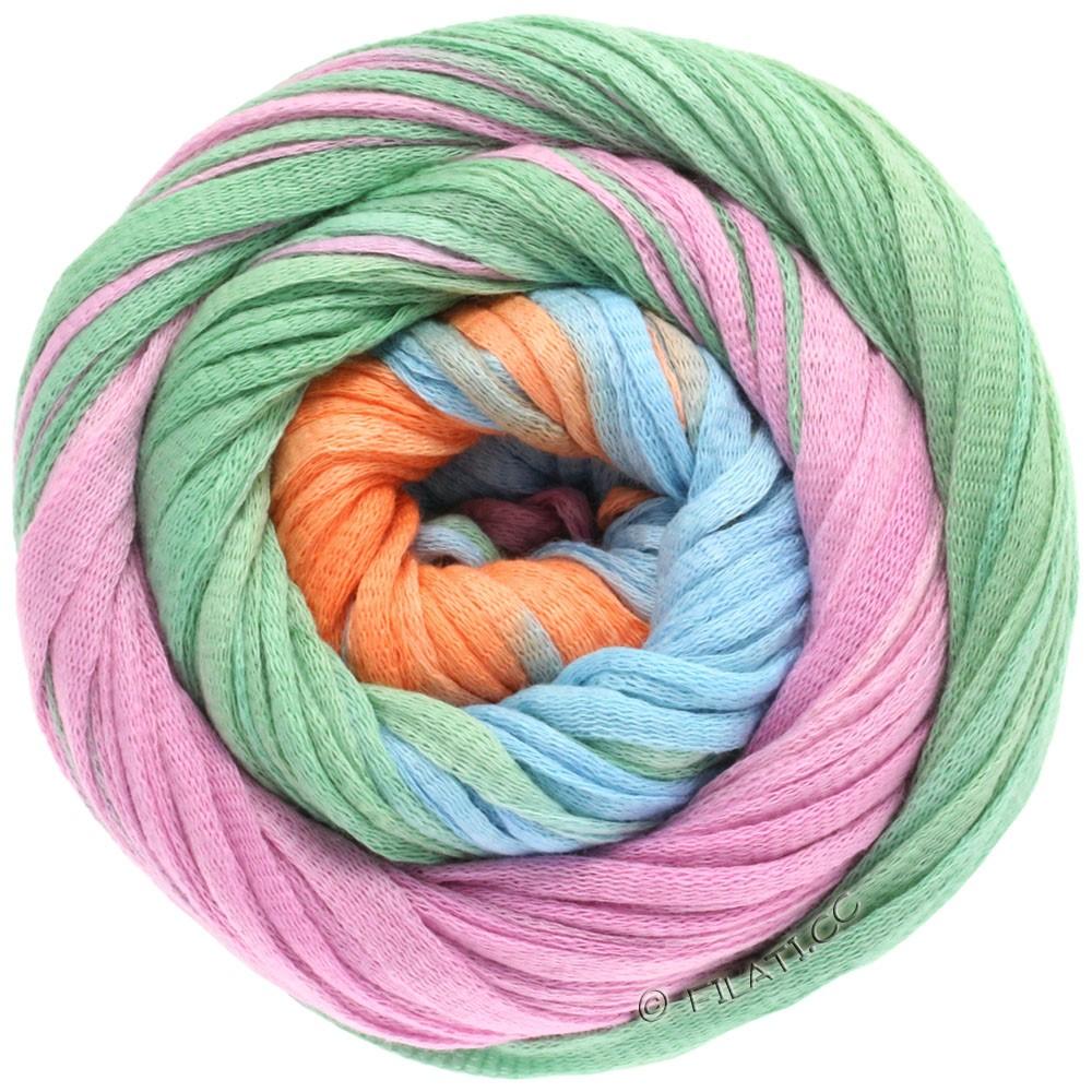 Lana Grossa PRIMAVERA | 110-абрикос/пастельный бирюзовый/голубой/сирень/бежевый