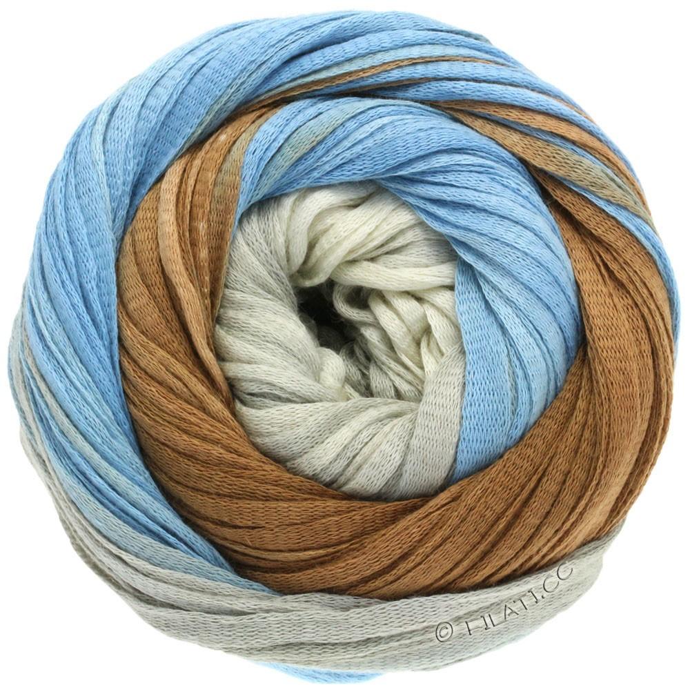 Lana Grossa PRIMAVERA | 112-серо-коричневый/джинс/пепельно-серый/чисто-белый