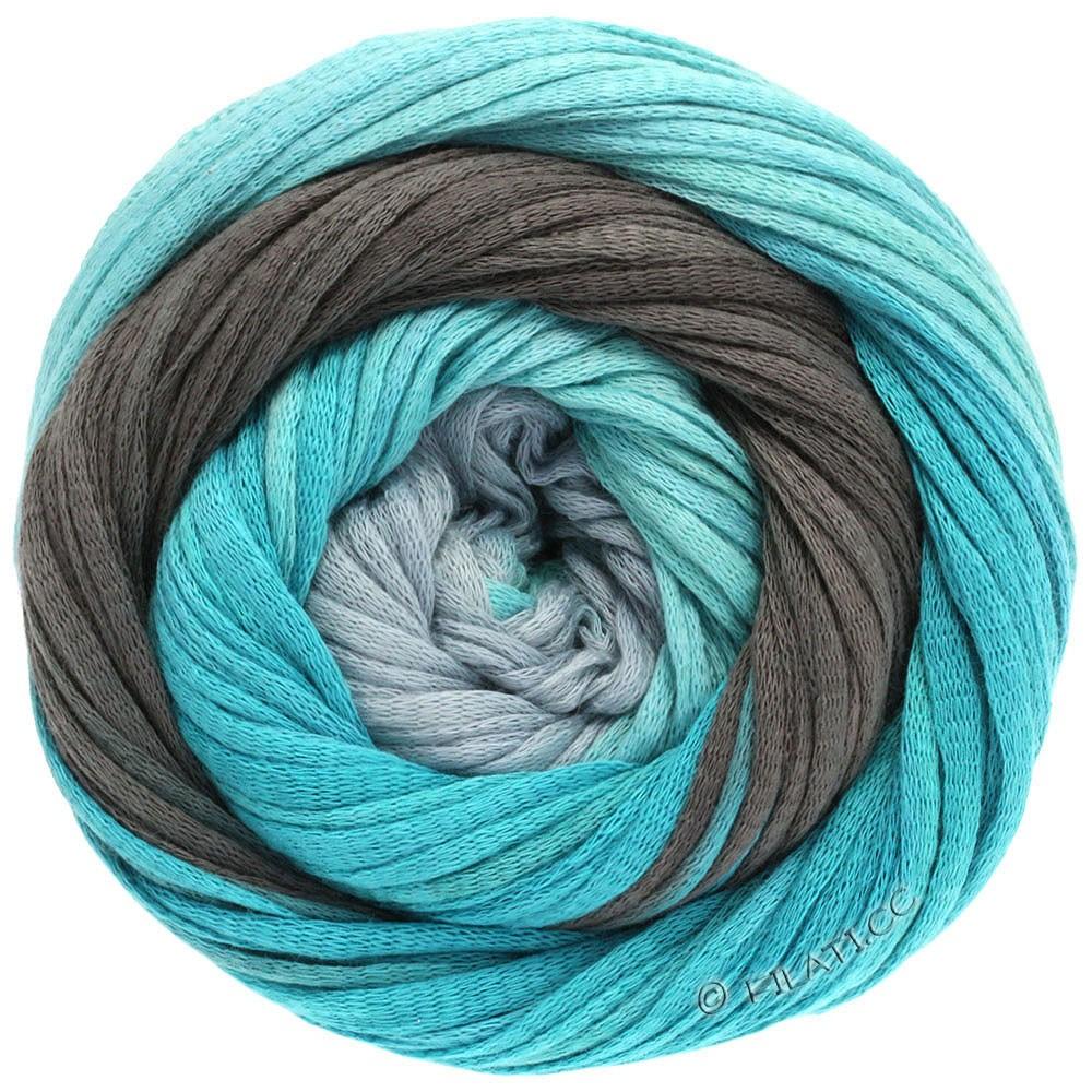 Lana Grossa PRIMAVERA | 113-мята/бирюзовый/петроль/серый камень/синий