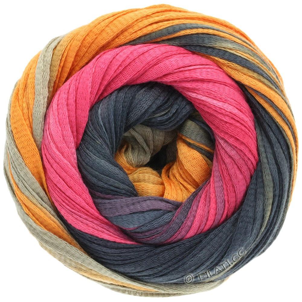 Lana Grossa PRIMAVERA | 115-хаки/оранжевый/чёрно-серый/пинк