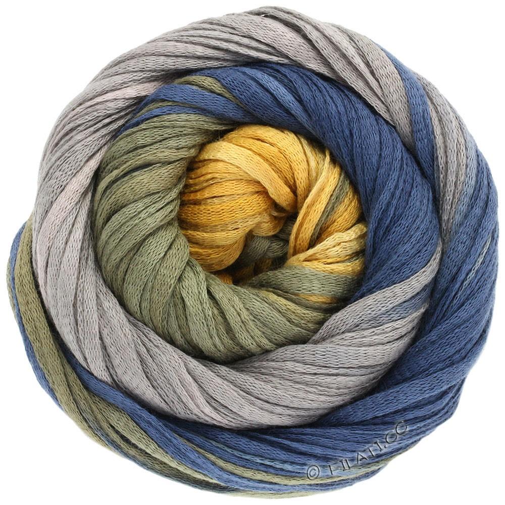 Lana Grossa PRIMAVERA | 116-горчичный/чёрно-оливковый/тёмно-синий/серая пыль