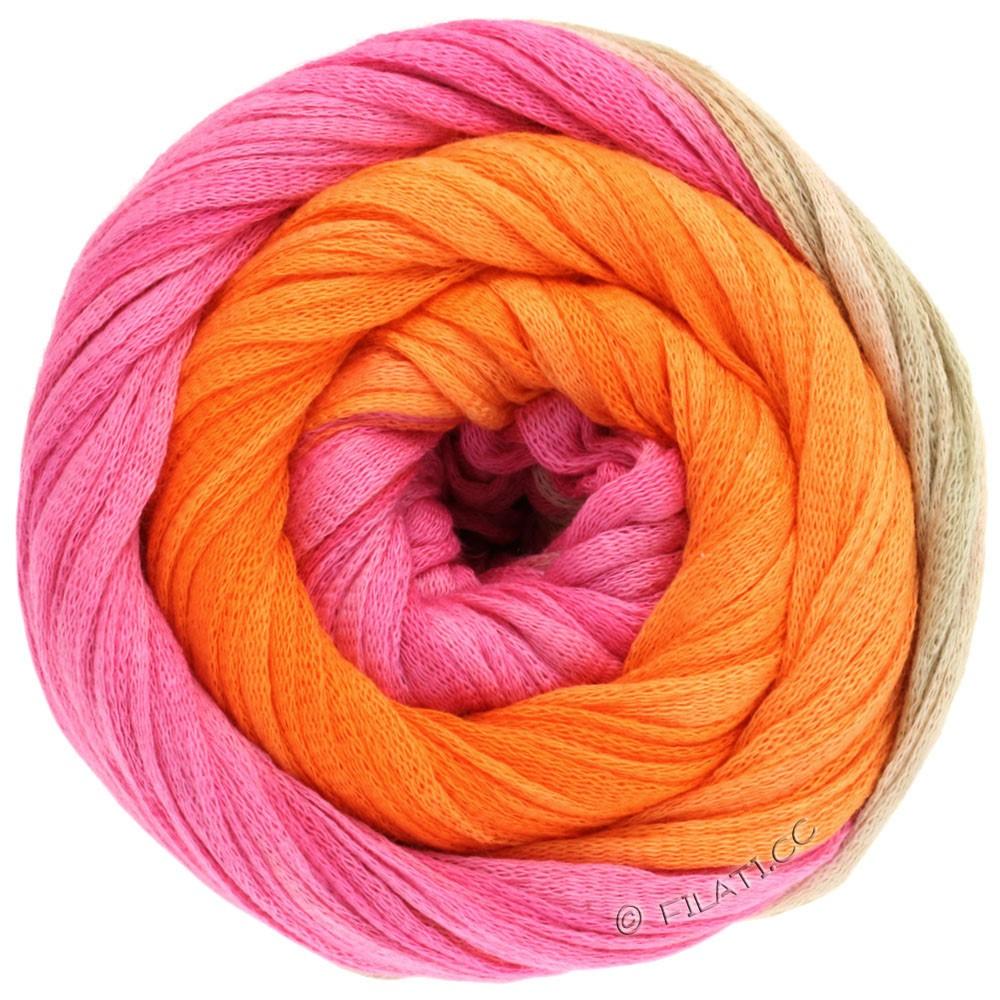 Lana Grossa PRIMAVERA | 117-пинк/бежевый жемчуг/оранжевый
