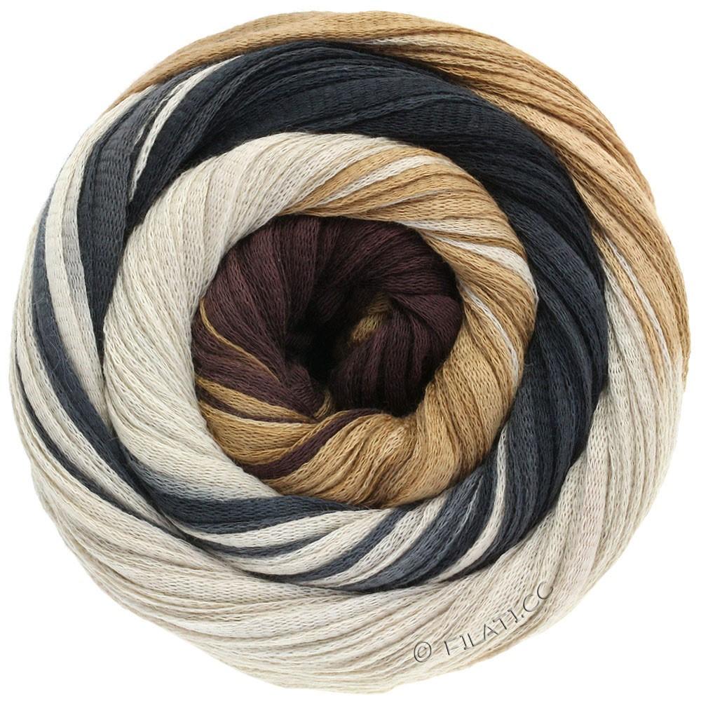 Lana Grossa PRIMAVERA | 118-бледно-коричневый /светло-бежевый/чёрно-коричневый