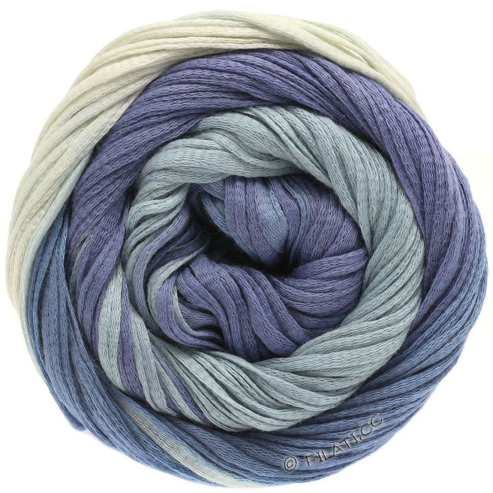 Lana Grossa PRIMAVERA | 120-натуральный/светло-голубой/лазурь/синий