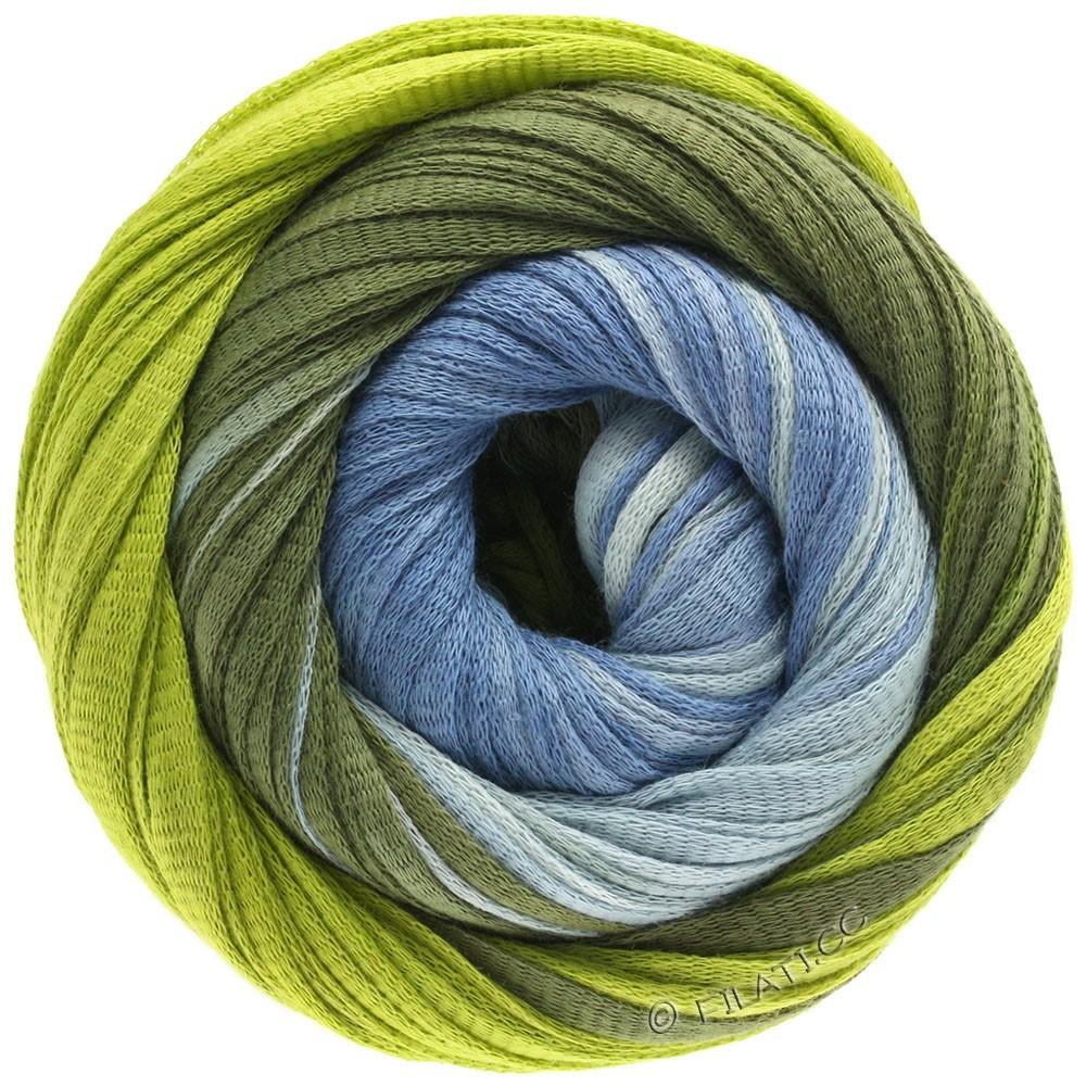 Lana Grossa PRIMAVERA | 122-синяя пастель/жёлто-зеленый/тёмно-оливковый