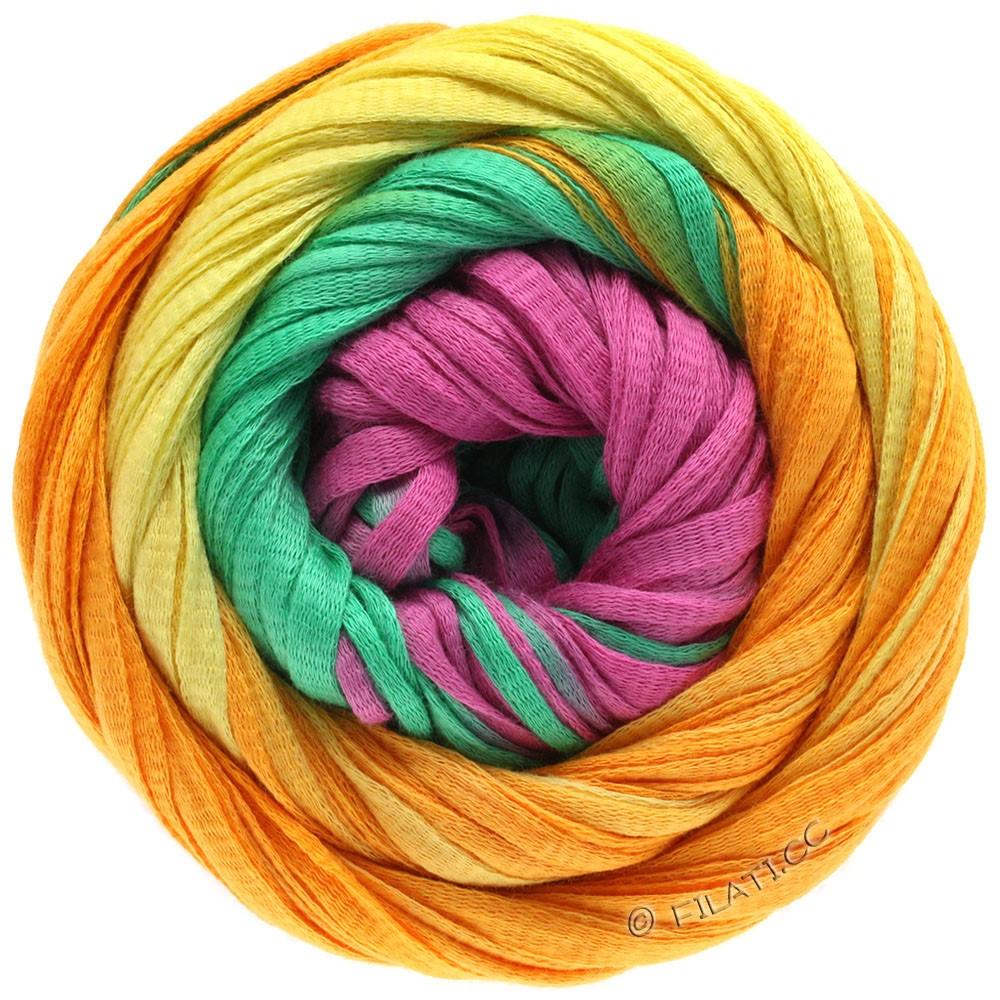 Lana Grossa PRIMAVERA | 124-жёлтый/оранжевый/изумрудный/пинк