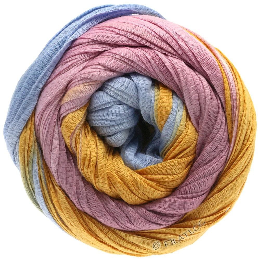 Lana Grossa PRIMAVERA | 125-синяя пастель/ветхо-розовый/мед желтый