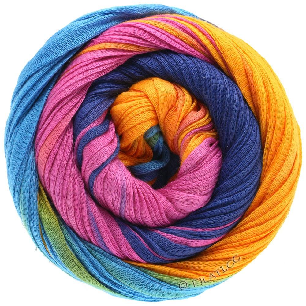 Lana Grossa PRIMAVERA | 126-сине-бирюзовый /оранжевый/пинк/тёмно-синий
