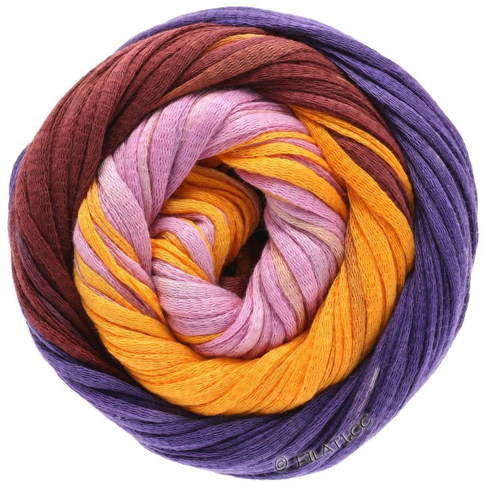 Lana Grossa PRIMAVERA | 127-синияя слива/бургунд/желтый/красно-лиловый