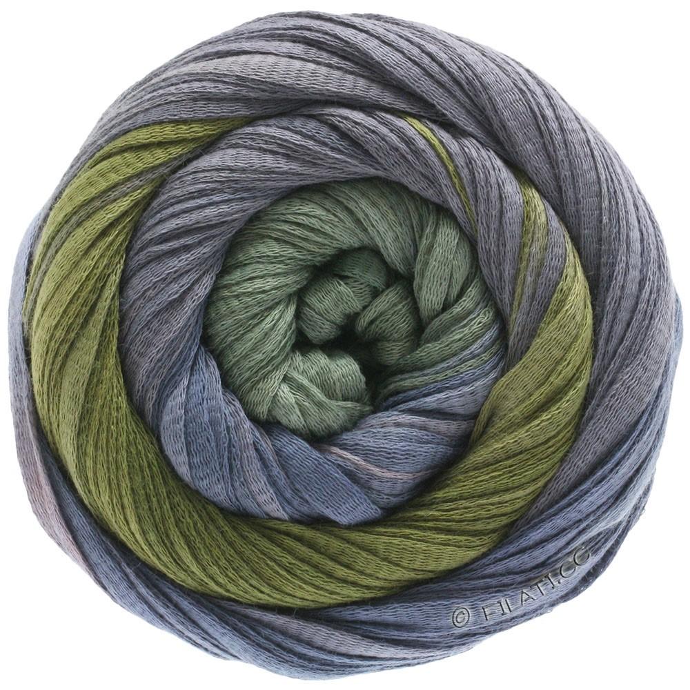 Lana Grossa PRIMAVERA | 129-мальва/синяя сталь/темный хаки