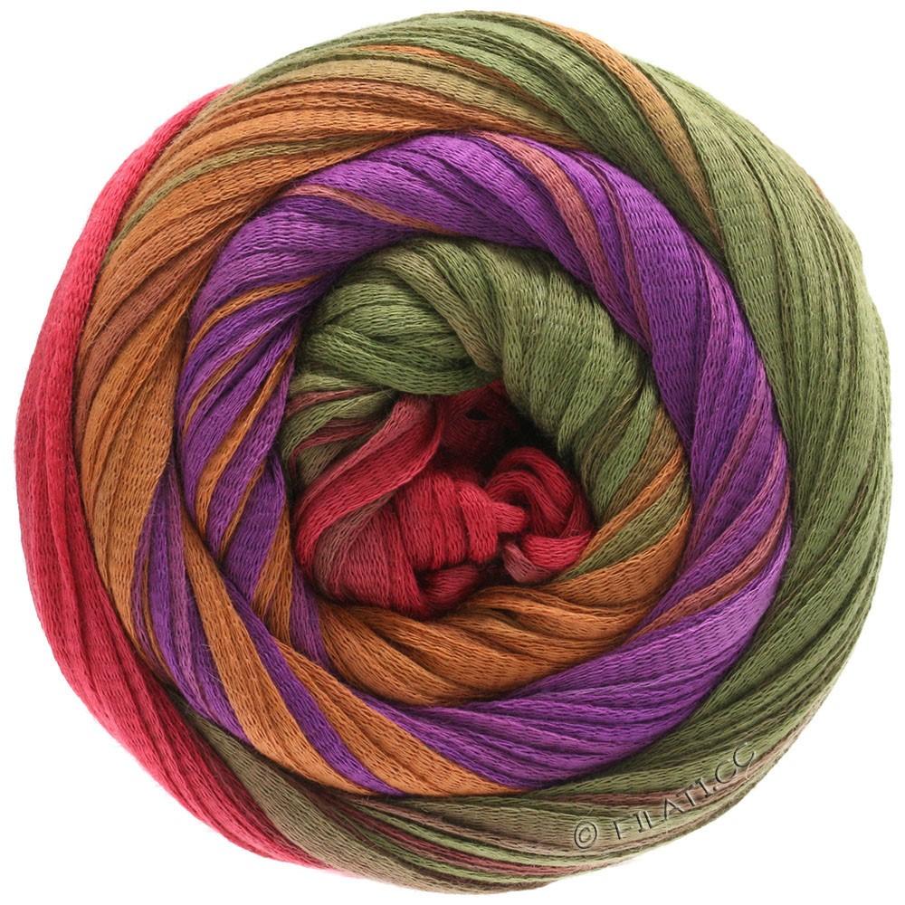 Lana Grossa PRIMAVERA | 131-красная фиалка/цвет корицы/оливковый/ориент красный