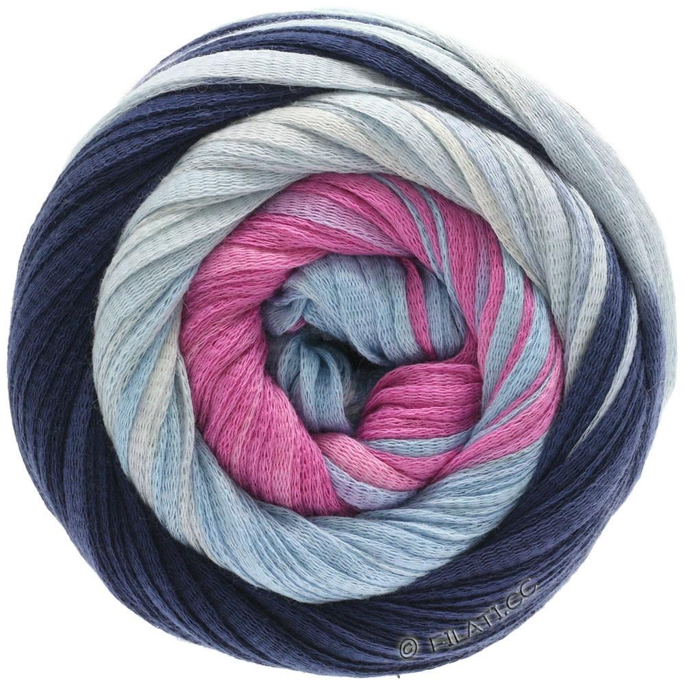Lana Grossa PRIMAVERA | 132-тёмно-синий/светло-голубой/пинк/розовый/натуральный
