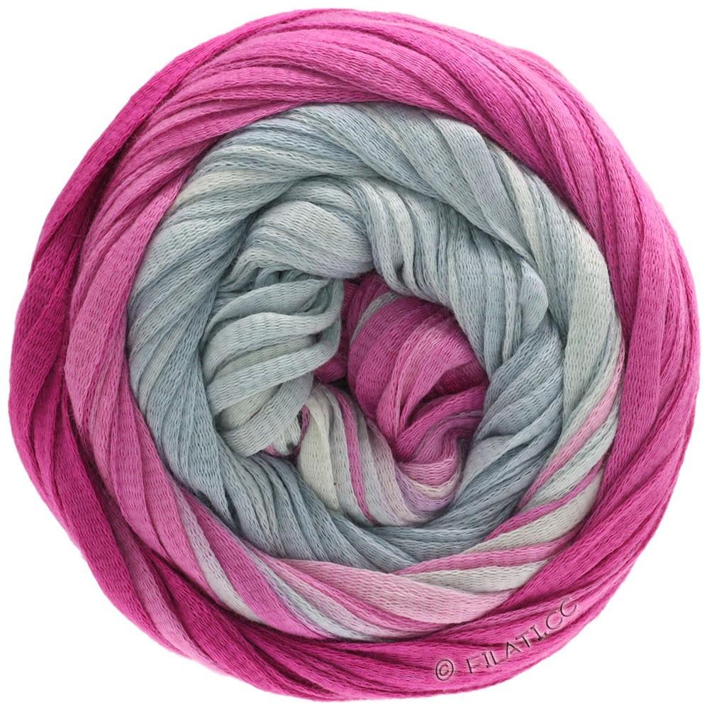 Lana Grossa PRIMAVERA | 201-серебристо-серый/серо-белый/Мягко лиловый/цикламеновый