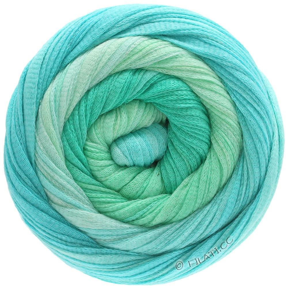 Lana Grossa PRIMAVERA | 204-бирюзовый/зеленый пастель/зеленый лист