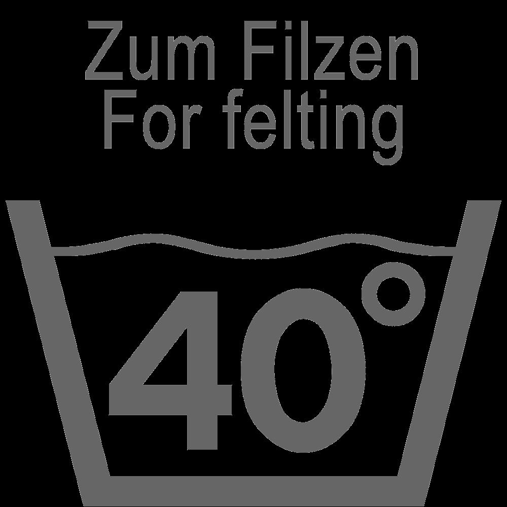 Для фелтинга: Стирка при 40°C
