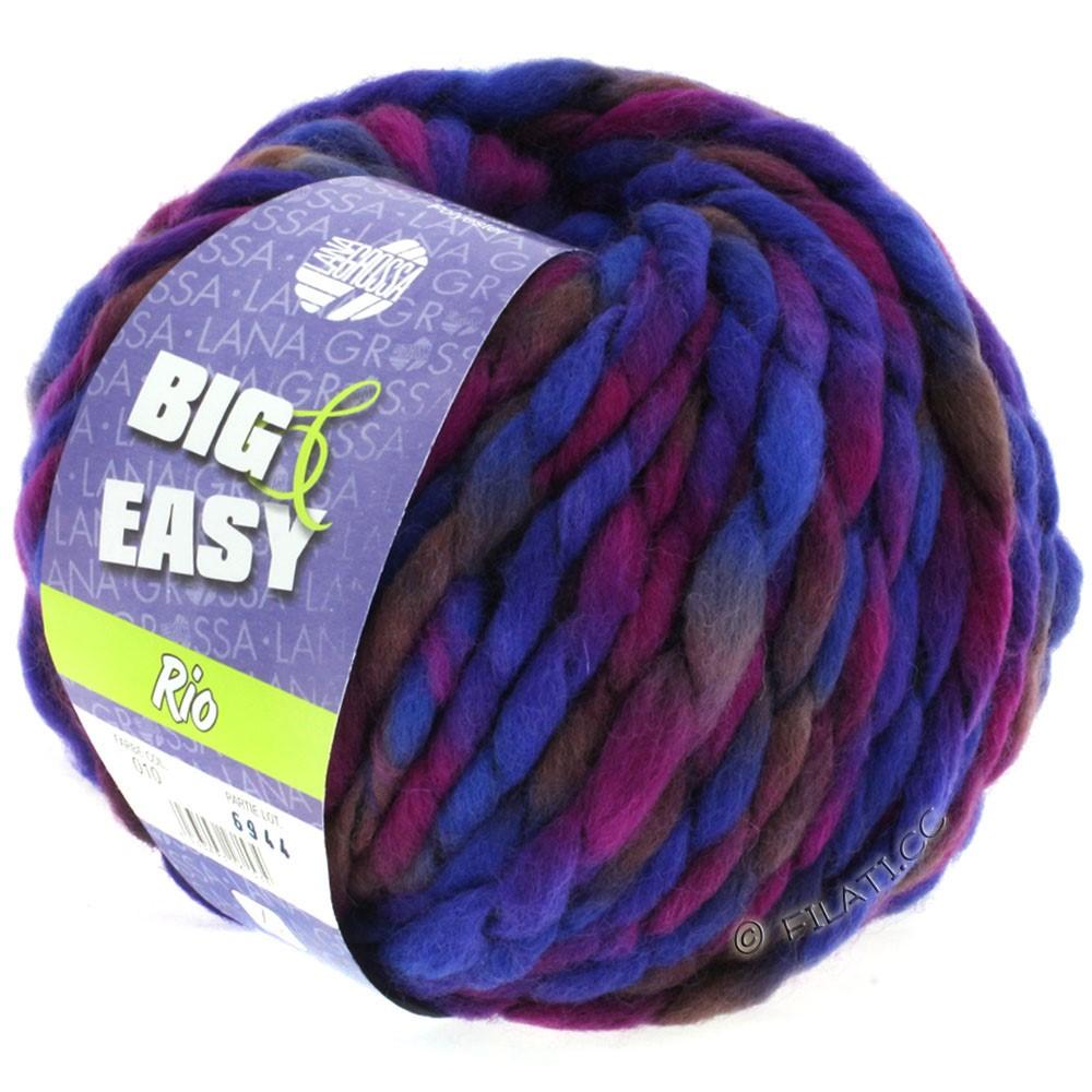 Lana Grossa RIO (Big & Easy) | 10-сине-фиолетовый/красная фиалка/слива