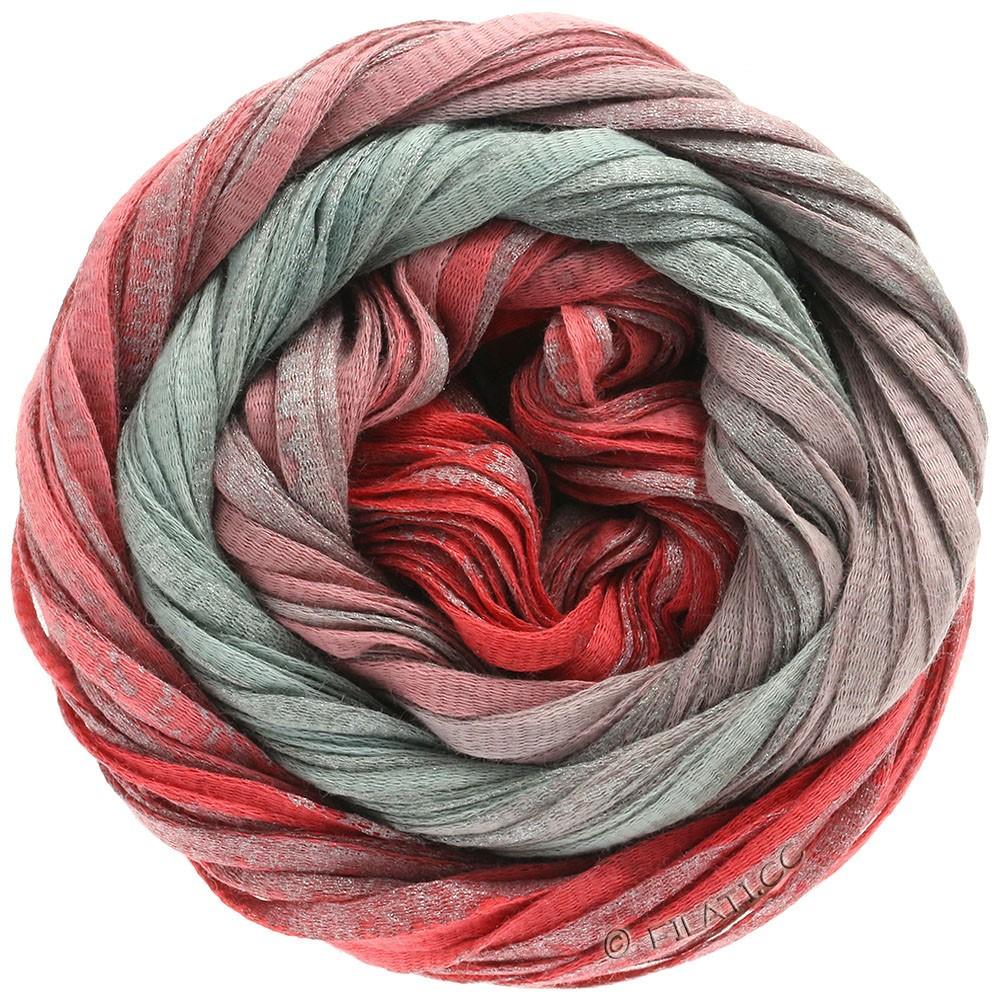 Lana Grossa ROMA Degradé | 302-красный/антично-красный/серебряный