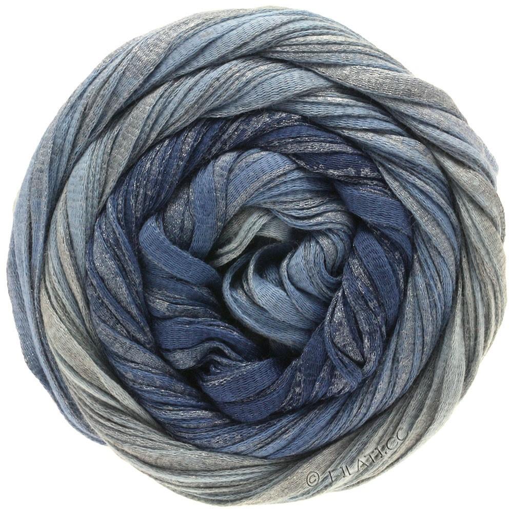 Lana Grossa ROMA Degradé | 303-джинс/светло синий/серебряный
