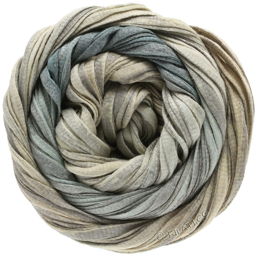 Lana Grossa ROMA Degradé | 304-натуральный/серый/серебряный
