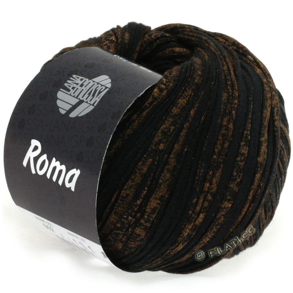 Lana Grossa ROMA | 002-чёрный/золотой
