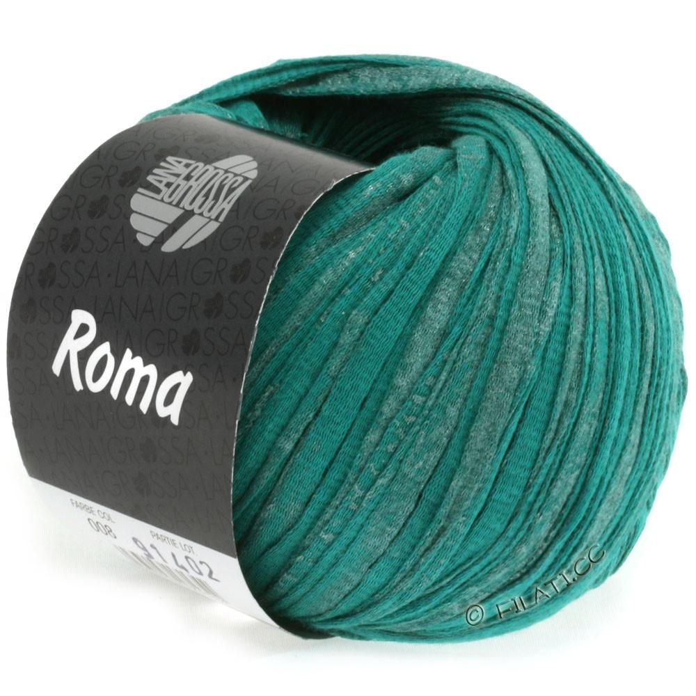 Lana Grossa ROMA | 008-зеленый опал /серебряный