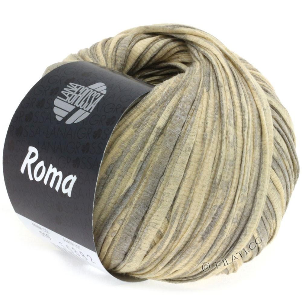 Lana Grossa ROMA | 010-бежевый/серебряный