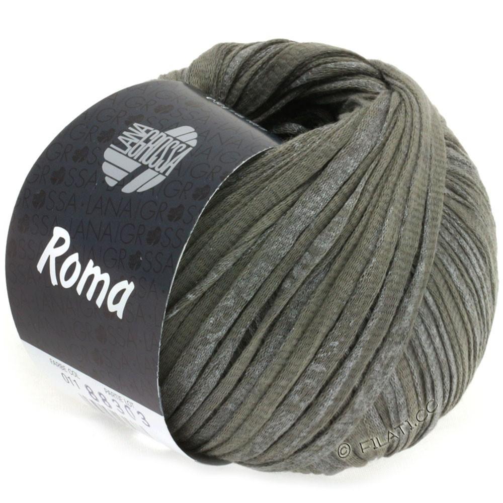 Lana Grossa ROMA | 011-тёмно-серый/серебряный