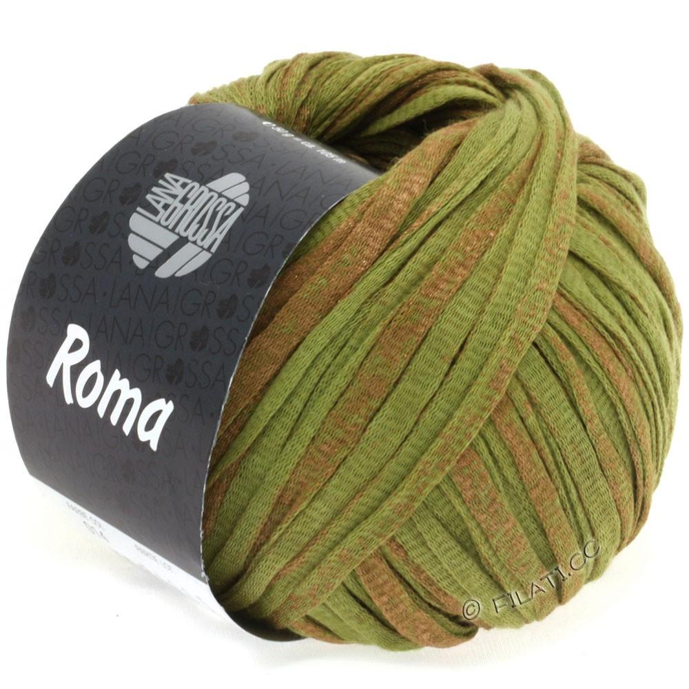 Lana Grossa ROMA | 014-оливковый/медь