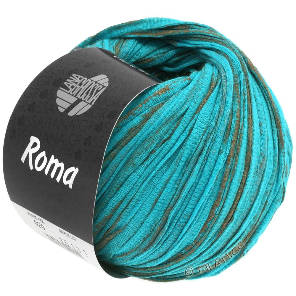 Lana Grossa ROMA | 020-вода/медь/серебряный