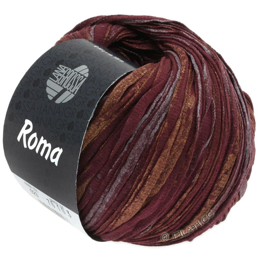 Lana Grossa ROMA | 023-бордо/медь/серебряный
