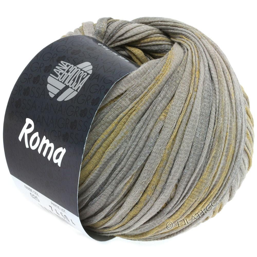 Lana Grossa ROMA | 025-бежевый/серебряный/золотой