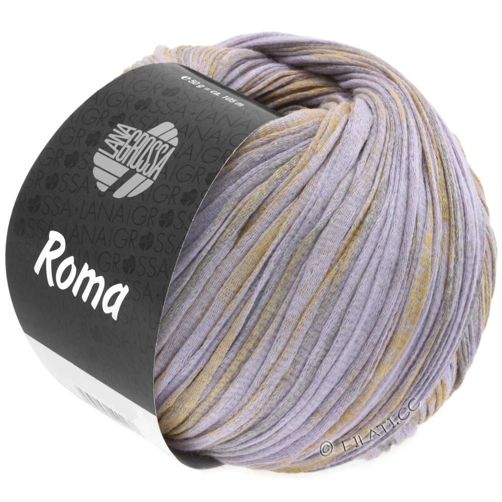 Lana Grossa ROMA | 026-пурпурный/золотой/серебряный