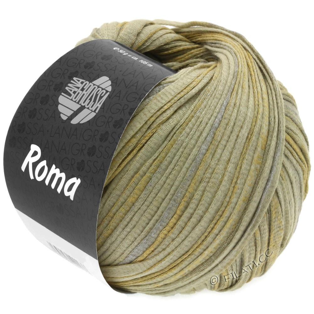 Lana Grossa ROMA | 028-зеленовато-бежевый/серебряный/золотой